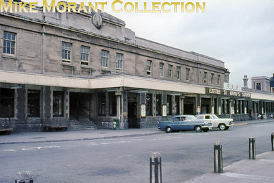 Exeter St. David's station frontage and forecourt circa 1964.