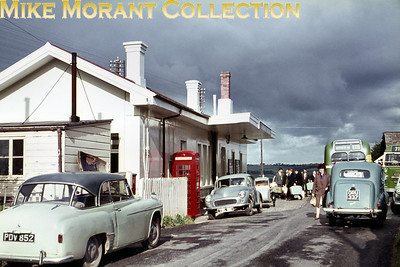 Liskeard railway station frontage and forecourt circa 1964.