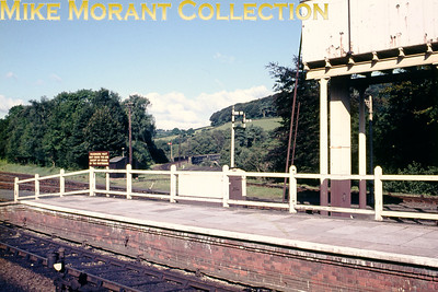 The western end of Bodmin General station with the branch track to Bodmin visible in the background.