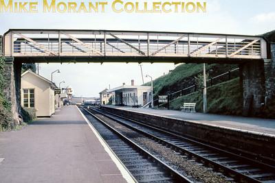 Liskeard railway station circa 1964.