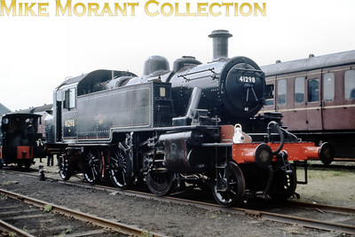 Preserved Ivatt 2MT 'Mickey Mouse' 2-6-2T no. 41298 was stored at Longmoor for a time and is depicted here on June 8th 1968 after its cosmetic restoration.