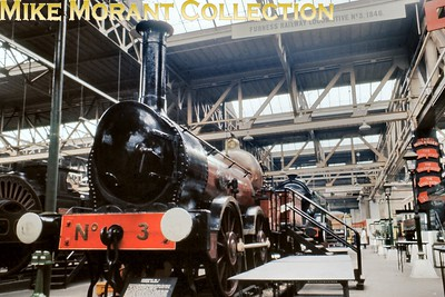 Preserved Furness Railway 0-4-0 no. 3 Coppernob in the rather cramped surroundings of the erstwhile Museum of British Transport, Clapham in September 1969. [Slide taken by Mke Morant]
