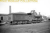 <center><u>Vintage Irish Republic Railways - Steam in Eire - 1954</u><br>Ex-M&GWR class J12 0-6-0 no. 587 at Dublin's Broadstone shed on 14/9/54.<center>