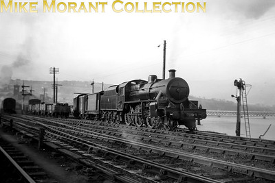 Vintage Irish Railways - Northern Ireland - UTAW class mogul no. 104 at Derry on 28/4/54.