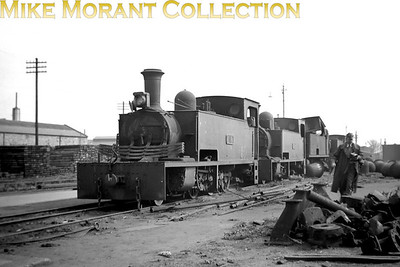 Vintage Irish Republic Railways - Narrow Gauge in Eire - 1954Ex-Tralee & Dingle Light Railway KN2 class 2-6-0T no. 1T was built by Hunslet in 1889 and has reached the end of the road at Inchicore works on 24/4/54. Lined up behind her are no. 2T and and two more unidentified narrow gauge loco which Brian green (thank you, Brian) has identified as West Clare 2-6-2T no. 9C and WCR 4-6-0T no. 11C.