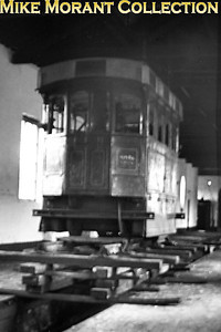 Vintage Irish Railways - Northern Ireland - BNCRVintage images can be very frustrating at times. This one featuring the ex-BNCR Portstewart steam tram loco no. 2 was taken on 30/4/54 inside the shed at Cookstown but the image itself is the victim of considerable camera shake. Perhaps, one day, I'll have the good fortune to acquire a better negative (or colour slide even) of this most interesting Kitson built locomotive.A note here for anyone who believes everything one reads in authorative books and is considering disputing what's written in the last paragraph. Irish Tramways by James Kilroy states that this loco was stored at Cookstown until 1949 and was then displayed until 1954 at Ballymoney station until 1954. This shot was definitely taken in 1954 but what the loco was doing back in storage at Cookstown is anybody's guess. In transit to the Ulster Folk and Transport Museum perhaps?