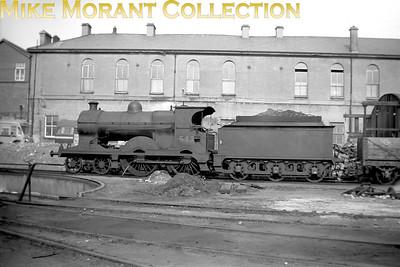 Vintage Irish Republic Railways - Steam in Eire - 1954Ex-M&GWR Class D6 4-4-0 no. 543 at Broadstone on 24/4/54.