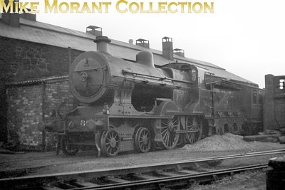 Vintage Irish Railways - Northern Ireland - UTAU2 class 4-4-0 no. 85 again but this time depicted outside Larne shed on 29/4/54.