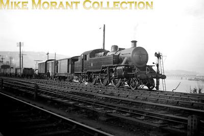 Vintage Irish Railways - Northern Ireland - UTAWT class 2-6-4T no. 55 at Derry on 28/4/54.