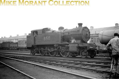 Vintage Irish Republic Railways - Steam in Eire - 1954The unique Ex-GSR P1 2-6-2T no. 850 at Inchicore shed on 5/9/54.