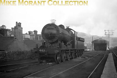 Vintage Irish Republic Railways - Steam in Eire - 1954Ex-D&SER Class K2 2-6-0 no. 461 at Bray shed on 24/4/54.
