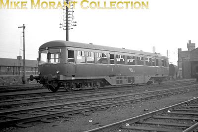 Vintage Irish Republic Railways - Diesel in Eire - 1954AEC diesel railcar no. 2636 at Inchicore on 24/4/54