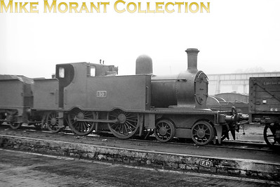 Of 1900 vintage CIE C4 class 4-4-2T no. 30 is shown here at Inchicore in 1938. It was one of four of this class that would survive into the 1950's and would be the first of those to be withdrawn in 1950. [Mike Morant collection]