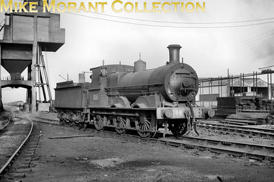 CIE no. 186 was a former GS&WR J15 class 0-6-0 depicted here at Belfast's York Road shed. [Mike Morant collection]