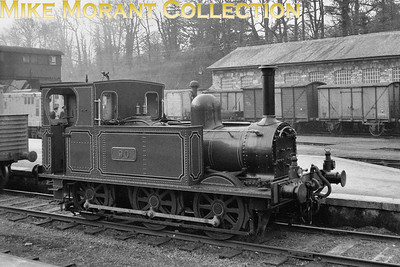 This was obviously taken in the heritage era at Mallow whilst GSWR no. 90, an 0-6-0T of 1875 vintage, was en Route for Fermoy station where it would be plinthed. The loco's history is an odd one as it started out as a combined loco and carriage with the 0-6-4T wheel arrangement when it was delivered to the Careisland Railway. It was subsequently rebuilt in 1915 to become one of the three J30 class. No. 99 of that class was withdrawn in 1930 but nos. 90 and 100 survived until 1959 utilised in the declining years shunting Cork Quays and and Albert Quay station. [Mike Morant collection]