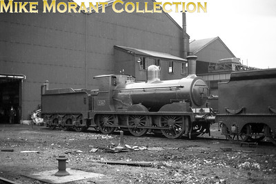 CIE J22 class 0-6-0 no. 236 of 1895 vintage at Inchicore. There were only two members of this class and sister engine no. 235 was withdrawn as far back as 1927 only three years after being rebuilt to the specification shown here but 236, rebuilt in 1925, lived a charmed life and survived until 1951. [Mike Morant collection]