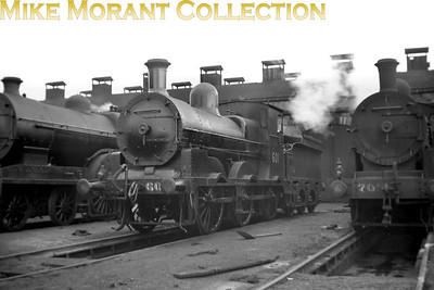 Vintage Irish Republic Railways - Steam in EireEx-M&GWR J19 0-6-0 no. 601 at Inchicore shed on 1/9/53.