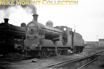 Vintage Irish Railways - Northern Ireland - GNRGNR(I) U class 0-6-0  no. 146 at Belfast's Adelaide shed on 5/9/53.