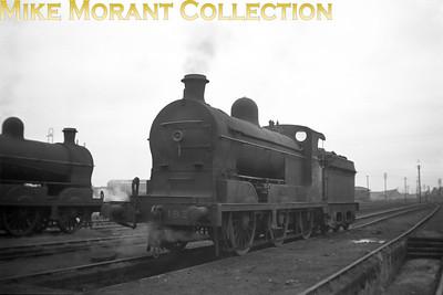 Vintage Irish Railways - Northern Ireland - GNRGNR(I) SG2 class 0-6-0  no. 183 at Belfast's Adelaide shed on 5/9/53.