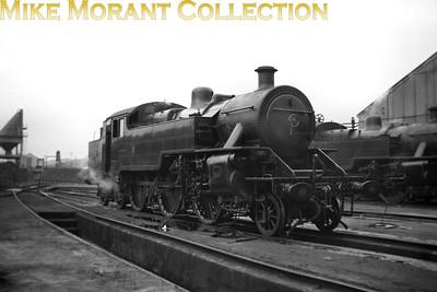 Vintage Irish Railways - Northern Ireland - UTANorthern Counties Committee 'WT' class 2-6-4T No. 7 at Belfast's Queen's Quay shed on 5/9/53.