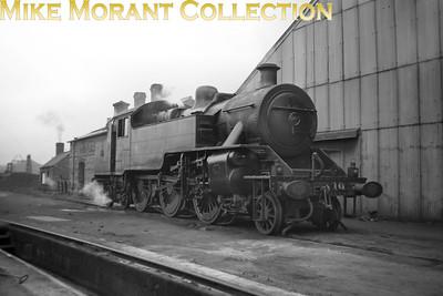 Vintage Irish Railways - Northern Ireland - UTANorthern Counties Committee 'WT' class 2-6-4T No. 10 at Belfast's Queen's Quay shed on 5/9/53.