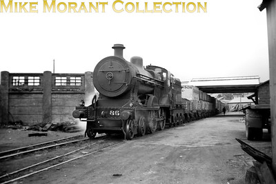 Vintage Irish Railways - Northern Ireland - UTANorthern Counties Committee 'U2' class 4-4-0 No. 85 shunting at Larne goods yard on 5/9/53.