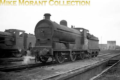 Vintage Irish Railways - Northern Ireland - GNRGNR(I) SG3 class 0-6-0  no. 7 at Belfast's Adelaide shed on 5/9/53.