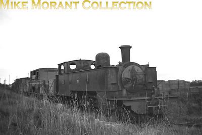 Vintage Irish Railways - Northern Ireland narrow gauge - Ballycastle RailwayEx-BCR 2-4-2T no. 43 stored outside Ballymoney shed on 4/9/53.
