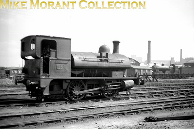Vintage Irish Railways - Northern Ireland - NCCA Bob O'Sullivan negative of 'N' class 0-4-0ST No. 16 known as The Donkey. Built in 1914 by Sharp Stewart she was identical to the locomotive she replaced, No. 42 dating from 1875. She was withdrawn from UTA service in 1951. [Mike Morant collection]