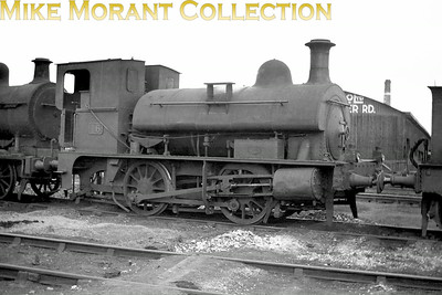 Vintage Irish Railways - Northern Ireland - NCCA Bob O'Sullivan negative of 'N' class 0-4-0ST No. 16 known as The Donkey. Built in 1914 by Sharp Stewart she was identical to the locomotive she replaced, No. 42 dating from 1875. She was withdrawn from UTA service in 1951 which is probably when this shot was taken. [Mike Morant collection]