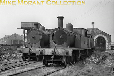 Vintage Irish Railways - Northern Ireland - BCDRThe sad sight of Belfast and County Down Railway 4-4-2T's awaiting the last rites at Queen's Quay depot. That nearest the camera is 'Small' Atlantic No. 211.This is a Bob O'Sullivan negative and my thanks go to Robert Gardiner for the location. [Mike Morant collection]