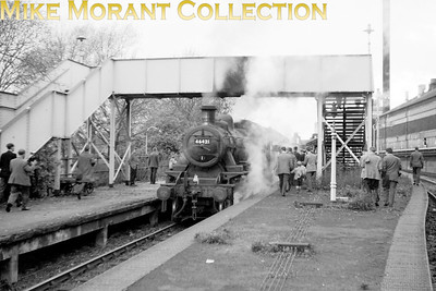 SLS: Last Train on the Harborne Branch and Farewell to the Halesowen Branch 2/11/63 46421 was one of the Crewe-built Ivatt Mickey Mouse 2-6-0's, entered service in 1948 and was withdrawn from 2E Saltley(Birmingham) mpd in 1966. This shot features what seems to be a little photographed SLS railtour which was captured on film here at the rarely photographed location of Longbridge. [Mike Morant collection]