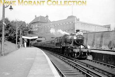 LCGB/REC: The Thames Valley Rail Tour 25/7/65 Ivatt 2MT 'Mickey Mouse' mogul no. 46509 is far from its home turf as it passes through Crystal Palace (Low Level) station.