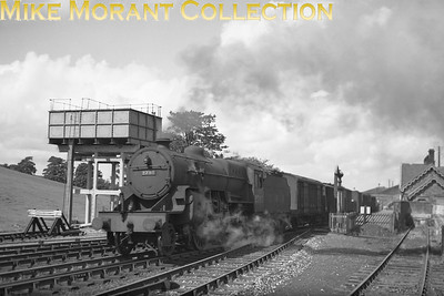 LMSR Hughes 'Crab' 2-6-0 no. 2793 departs from Kirkby Stephen West station on the Settle & Carlisle line circa 1948.