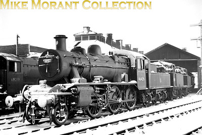 Snow bedecked Ivatt 2MT 'Mickey Mouse' 2-6-0 no. 46429 at 5D Stoke mpd. [Mike Morant collection]