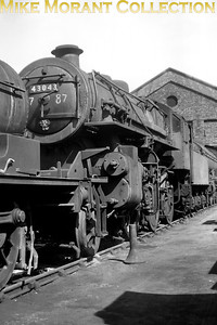 Ivatt 'Flying Pig' 4MT 2-6-0 no. 43043 awaits a light casual repair between 3rd May and 26th August 1960 at Darlington works in. 43043 was allocated to 55A Holbeck at the time. [Mike Morant collection]
