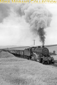 Hughes 'Crab' 2-6-0 no. 47240 at Holleybush on the Dalmellington branch on 26/5/65. 42740 had been an Ayr allocated engine since February 1964 and would be withdrawn there in June 1966. [Mike Morant collection]