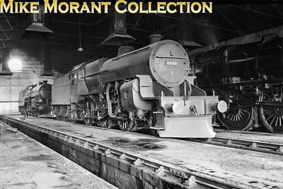 An interesting shot this if for nothing else that the location of is Perth North shed (29A) which was closed in 1938. LMSR Hughes Crab 2-6-0 2808 with snow plough fitted is seen reposing inside that shed on March 19th, 1936. 2808 was probably based in Scotland for most if not all its life and was withdrawn from service at Ayr in 1962 following 33 years of hard graft.