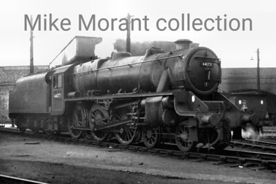 Stanier 5MT 4-6-0 no. 44771 at Monument Lane mpd on 24/7/61. [Mike Morant collection]