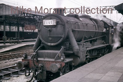 Strictly speaking this isn't entirely an LMSR Stanier locomtove as it's a BR design emanating from Crewe Works in July 1948 and had a working life of only 15 years being withdrawn from service at 9A Longsight (Manchester)  which was the home shed of Caprotti geared Black '5' 44747 when smapped at Crewe station on July 24th, 1961.