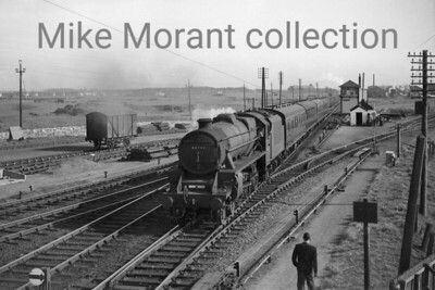 Stanier 5MT 4-6-0 no. 44791 at Barassie just north of Troon. Although this shot isn't dated it would have been taken c. 1960 during the extended period that 44791 was allocated at Corkerhill depot from 1952 - 1965. [Mike Morant collection]