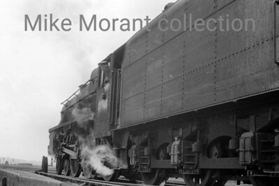 A powerful shot of an unidentified Stanier 'Black 5' 4-6-0 with a number that appears to read 451x0.