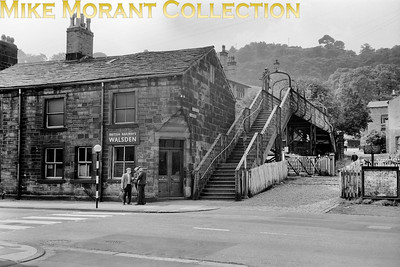 Walsden station entrance on 12/10/60. This former L&YR station closed on 7/8/61 but a new station was subsequently built by BRB and opened on 10/9/90. [Mike Morant collection]