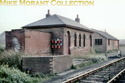 Red brick buildings in Worthington  goods yard  taken on 17/10/65. [Mike Morant collection]
