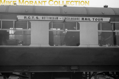 RCTS: Lincolnshire Rail Tour 16/4/54 The tour train's carriage roof board. [Mike Morant collection]