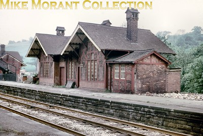 This shot of the station buildings at the former Midland Railway station of Matlock Bath was taken after closure to passengers in March 1967 and the double track is still in situ. The station was reopened in 1972 but with only a single track formation. [Mike Morant collection]