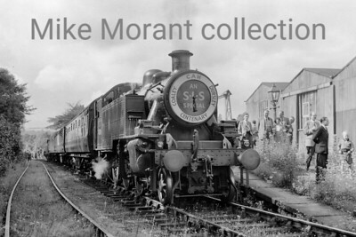 SLS: Dursley Centenary Rail Tour 25/8/56 LMSR Ivatt Mickey Mouse 2MT 2-6-2T No. 41208 at Stroud Wallgate the former Midland Railway station in that town.. The tour visited Stroud, Nailsworth, Dursley and Thornbury top and tailed with a Jinty and this loco.