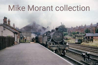Fowler 4MT 2-6-4T no. 42405 prepares for departure from Bishop Auckland station in July 1964. 42405 was allocated to Darlington when this shot was taken and would be withdrawn there in the following October. [Mike Morant collection]