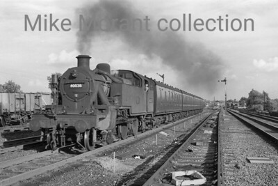 Fowler, condensor fitted 3MT 2-6-2T no. 40038 in charge of a Down stopping service at Mill Hill on 27/5/60 when the loco was allocated to Cricklewood shed. [Mike Morant collection]