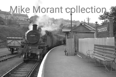 Ivatt 2MT 'Mickey Mouse' 2-6-2T no. 41206 at Calstock station on an unspecified date between february '63 and July '65 when 41206 was an Exmouth Jct. engine. [Mike Morant collection]